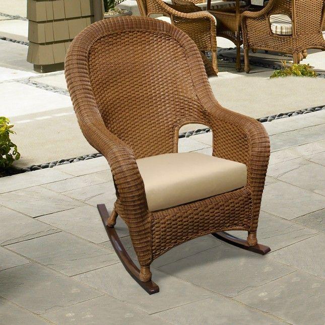 NCI+Montclair+Resin+Wicker+Rocking+Chair