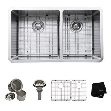 "Found it at Wayfair - 33"" Undermount 70/30 Double Bowl 16 Gauge Stainless Steel Kitchen Sink http://www.wayfair.com/daily-sales/p/7-Steps-to-a-Kitchen-Makeover-33%22-Undermount-70%2F30-Double-Bowl-16-Gauge-Stainless-Steel-Kitchen-Sink~KUS1936~E22216.html?refid=SBP.rBAZEVXR5QFHfVjxBUSCAk_FLHF-DUFOmCiChDyNTEI"