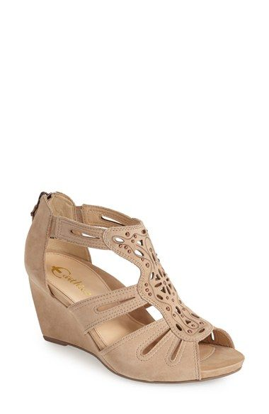 44731d611dbf Earthies®  Morolo  Studded Nubuck Leather Wedge Sandal (Women) available at   Nordstrom