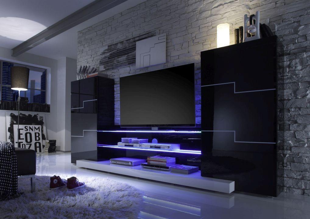 Wohnzimmer Wohnwand ~ Wohnzimmer tv wand modern idee wohnzimmer gestalten tv wände