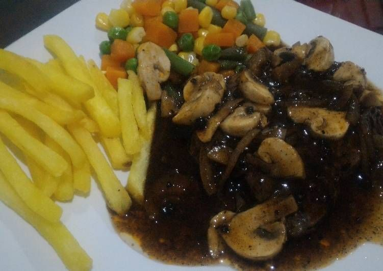 Resep Blackpepper Steak Sirloin Oleh Winda S Kitchen Resep Steak Makanan Daging