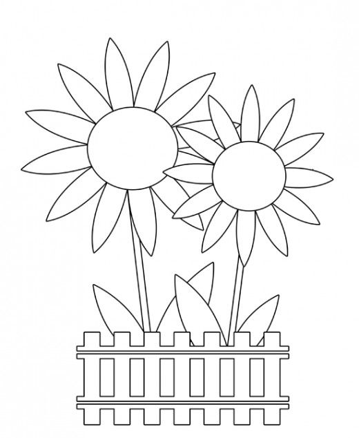 Easter Flowers Colouring Pages : Free spring clip art flowers butterflies easter & more