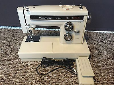 Vintage Kenmore Model 158 13520 Twelve Sch An Made Metal Sewing Machine