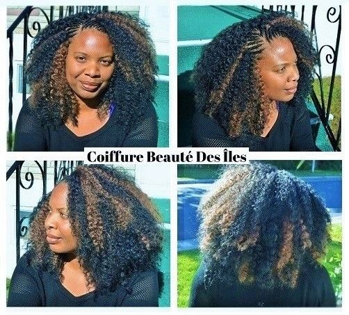 Tree braids with cornrows in front