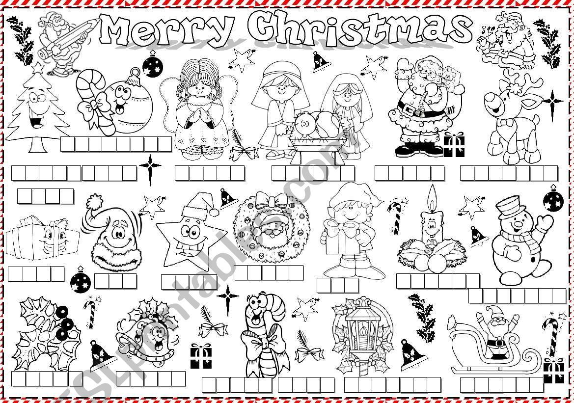 This Is A Fully Editable Worksheet About Christmas Theme