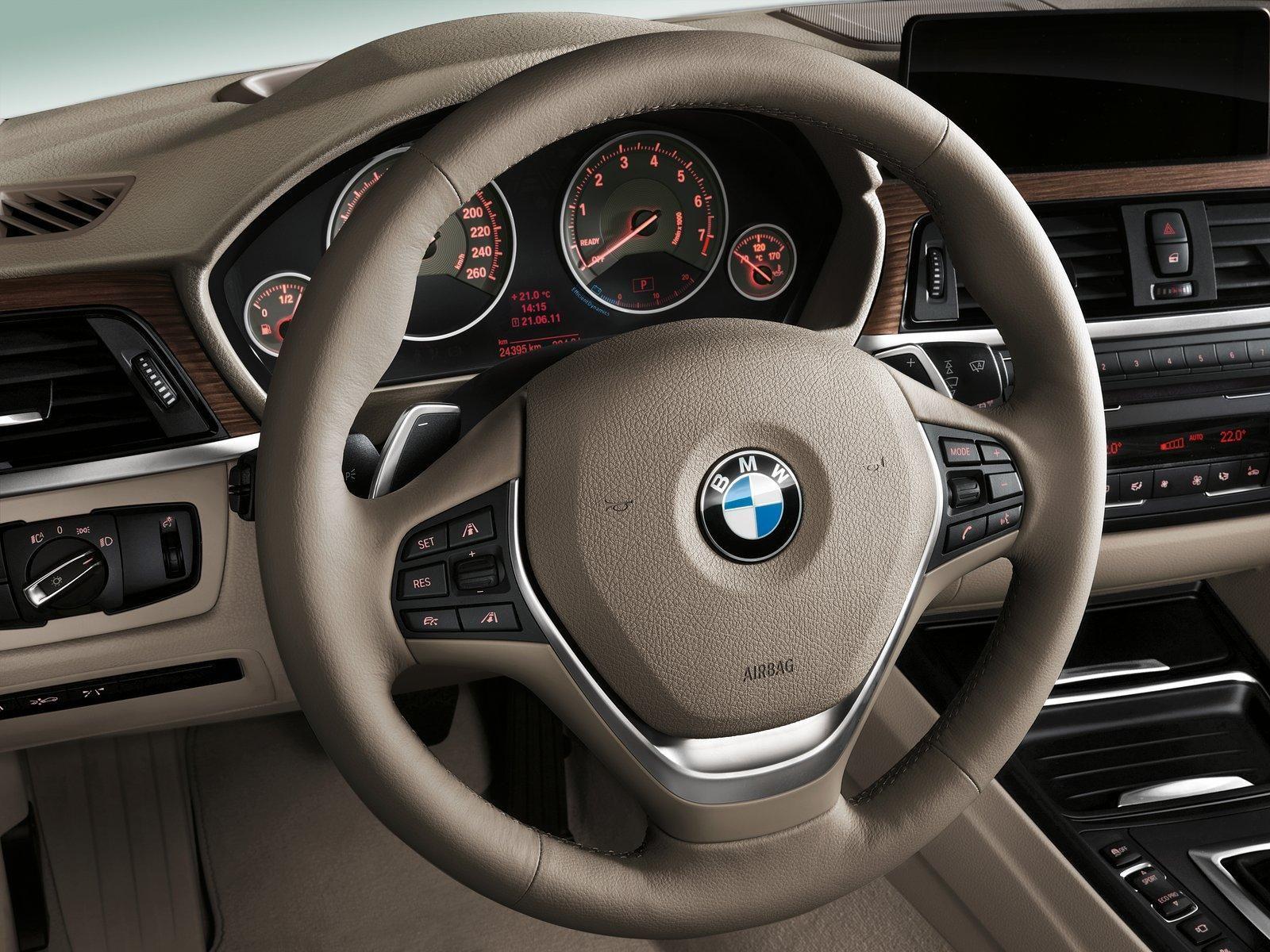 Bmw 3 Series Beige Leather Interior Car Steering Wheel Silver