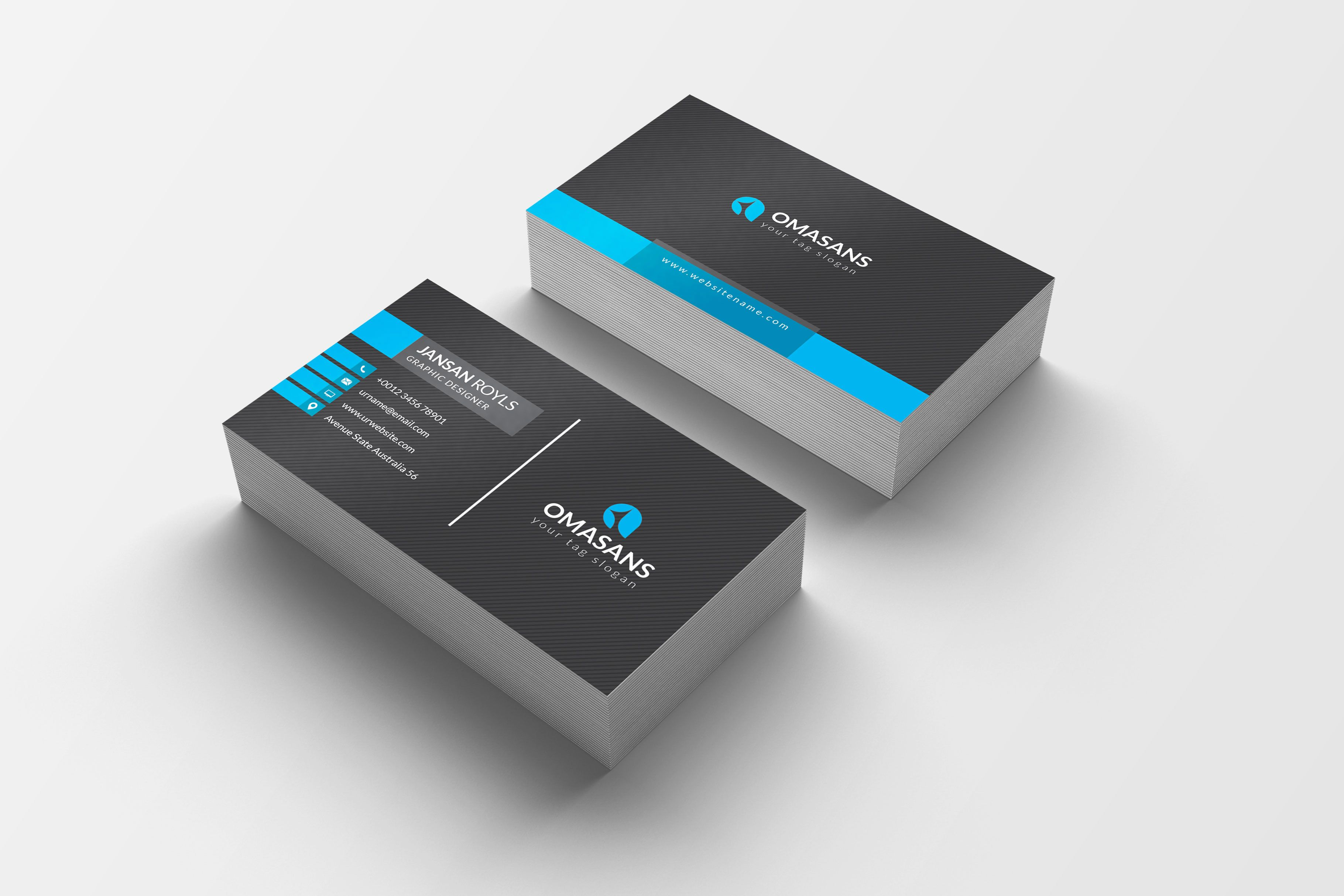 Psd Modern Business Cards Graphic Templates Modern Business Cards Business Card Modern Minimalist Business Cards