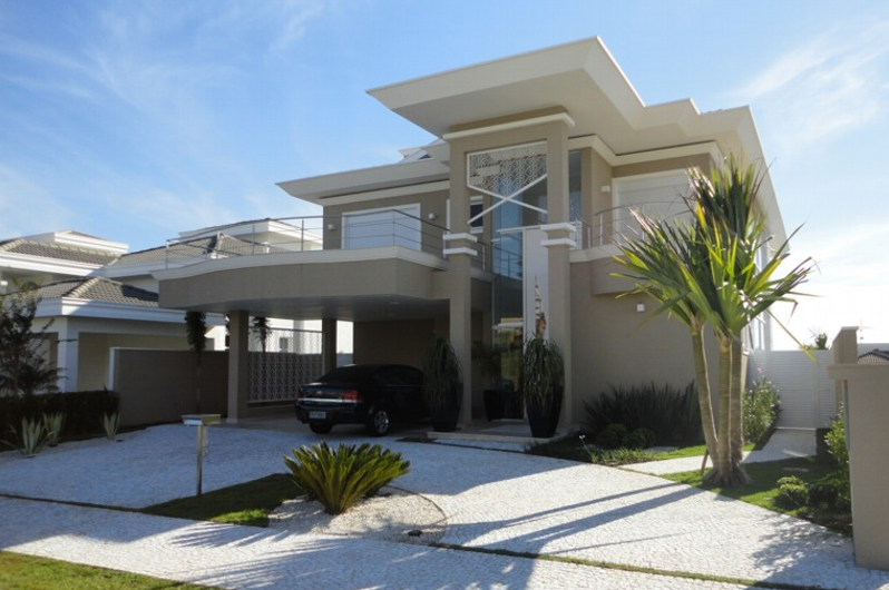 40 Fachadas de casas modernas e esculturais maravilhosas