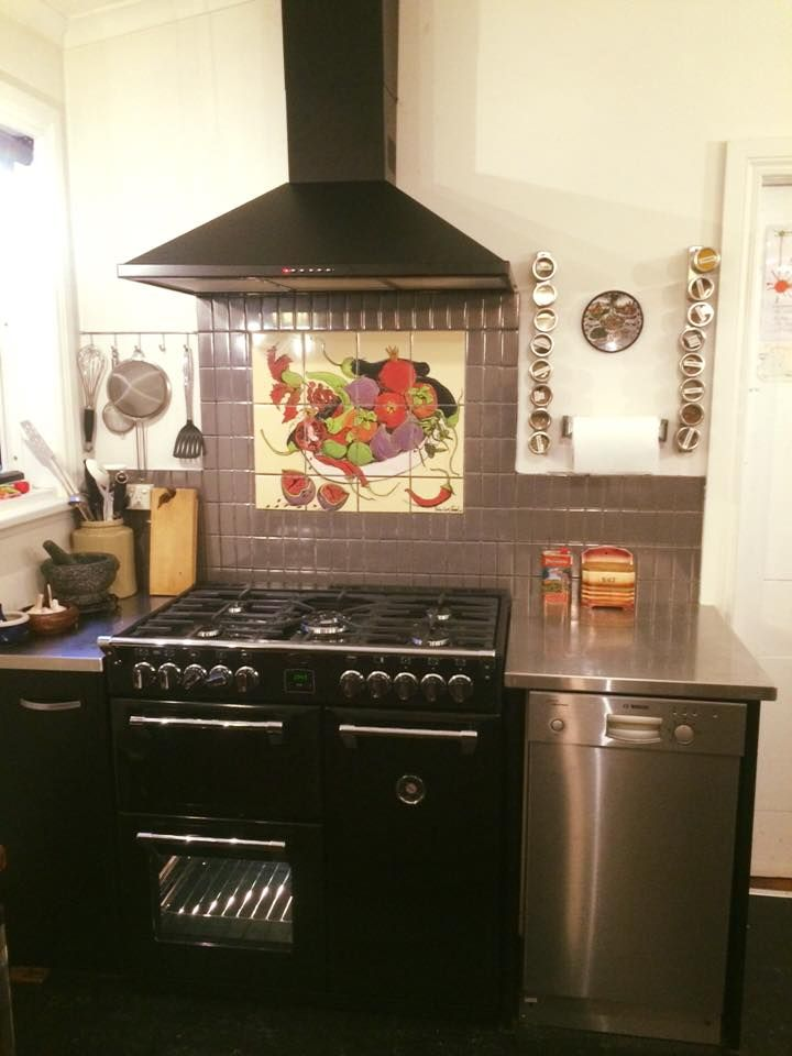Ramp up your kitchen with a custom-made splashback and the Black ...