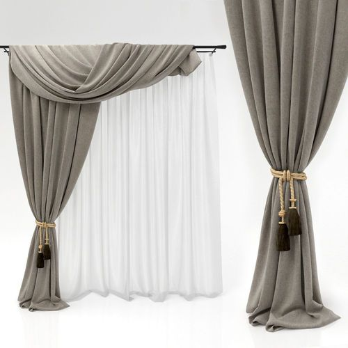 Curtains 3d Model Classic Curtains Drapery Styles Curtains