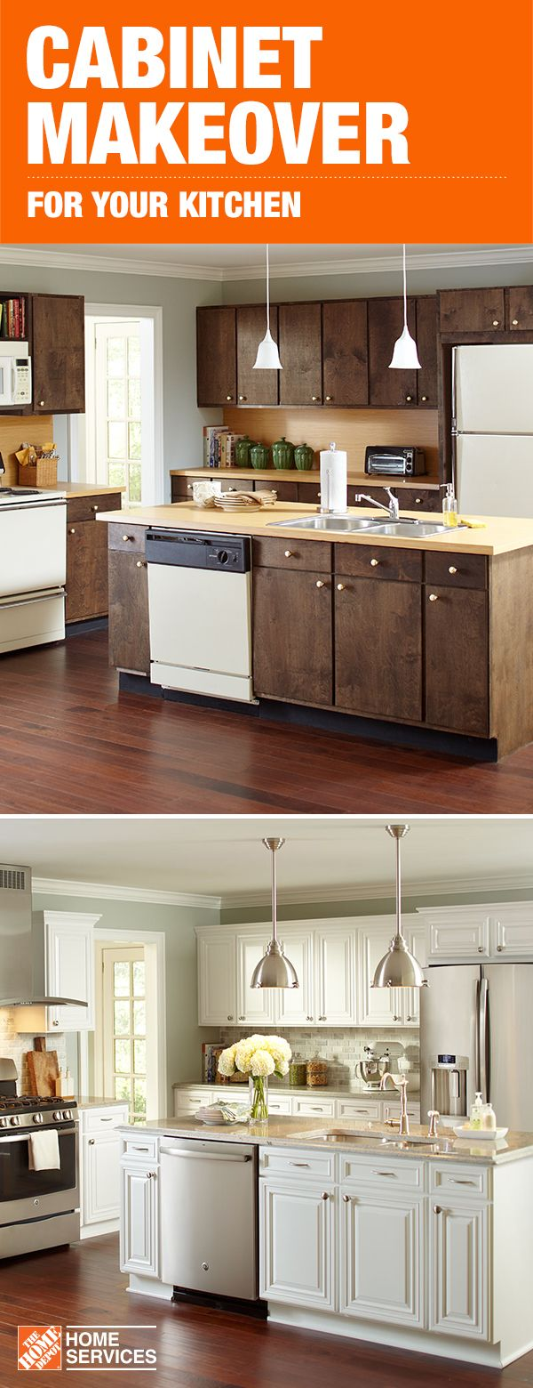 A Cabinet Makeover With The Home Depot Can Give Your Space A Whole New Look With A Cab Refacing Kitchen Cabinets Home Depot Cabinets Kitchen Cabinets Makeover