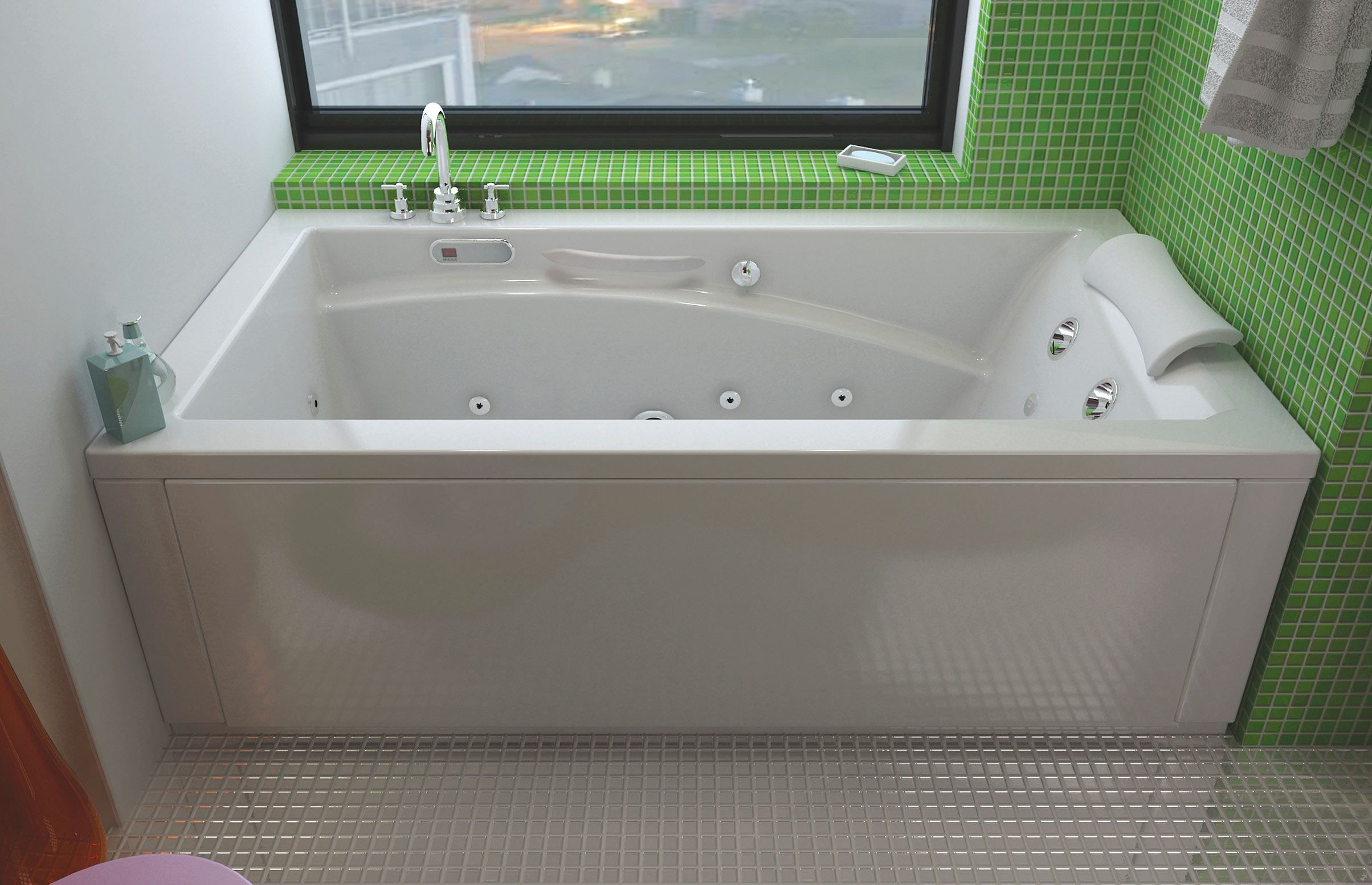 Optik end drain alcove or drop in or undermount or for Built in tub dimensions