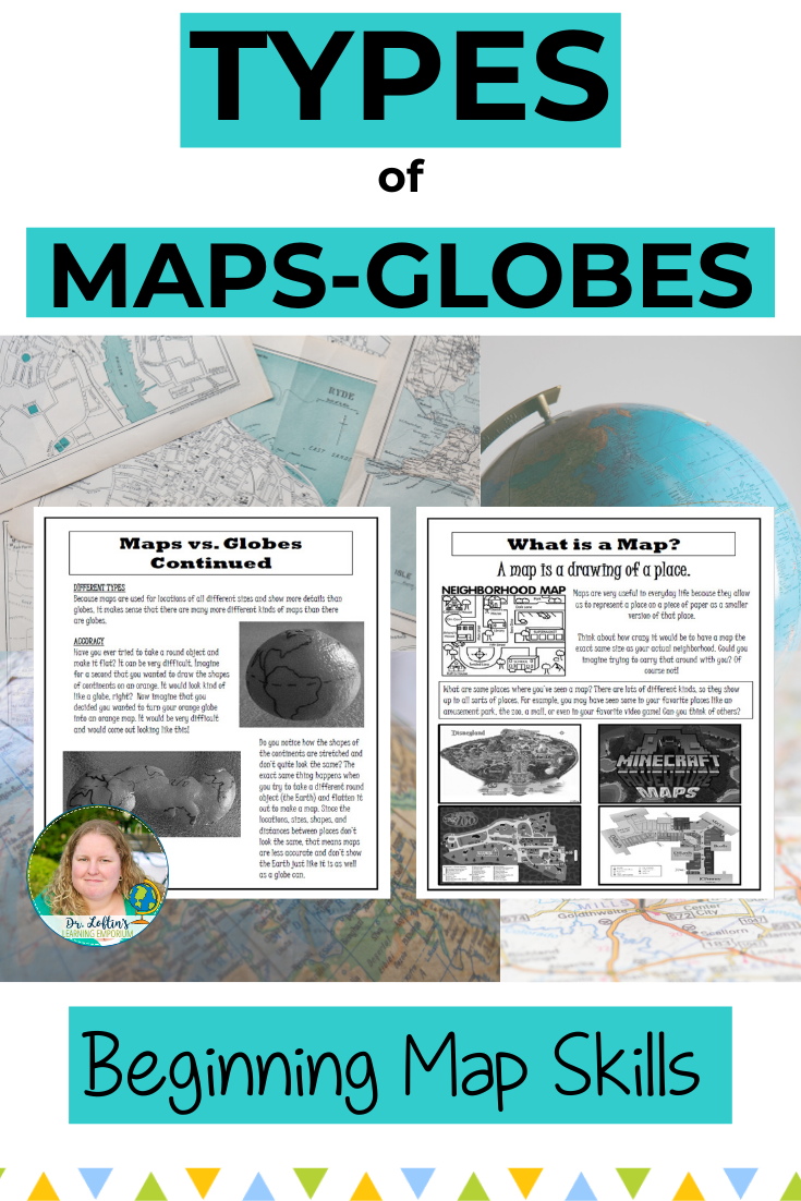 Beginner Map Skills-Different Types of Maps and Globes   Map skills [ 1102 x 735 Pixel ]