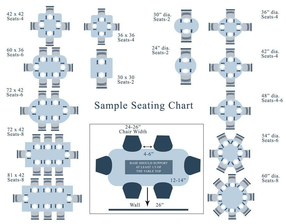 Visual Seating Chart Number Of Chairs Per Table