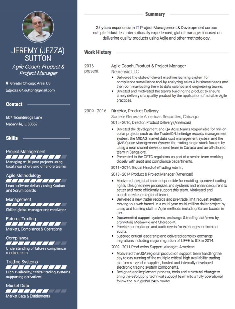 Success story CV Jezza Online cv, Management development