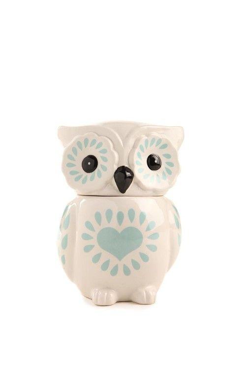 Bohoo owl storage jar Pinned by www.myowlbarn.com | I want one ...