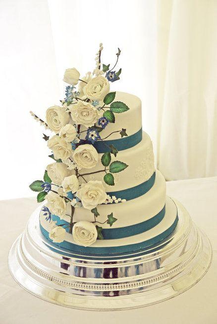 White Wild Roses  Wedding Cake ~ all edible