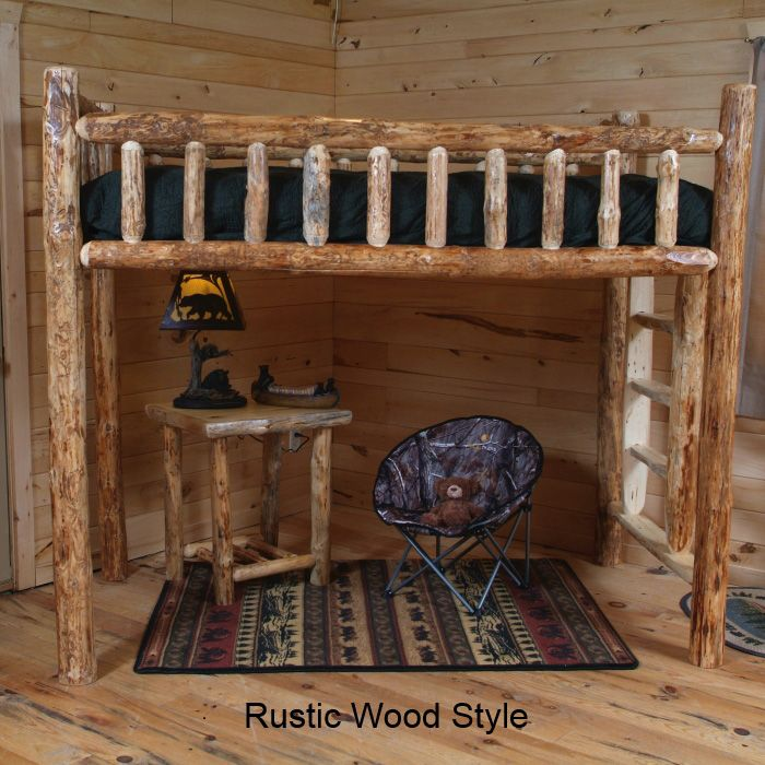 Twist Of Nature Log Furniture Pine Loft Bed Cabin Diy