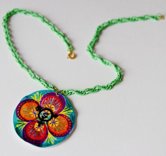 Transgender Rights Mandala Handmade Necklace by FabulouslyFeminist, $20.00