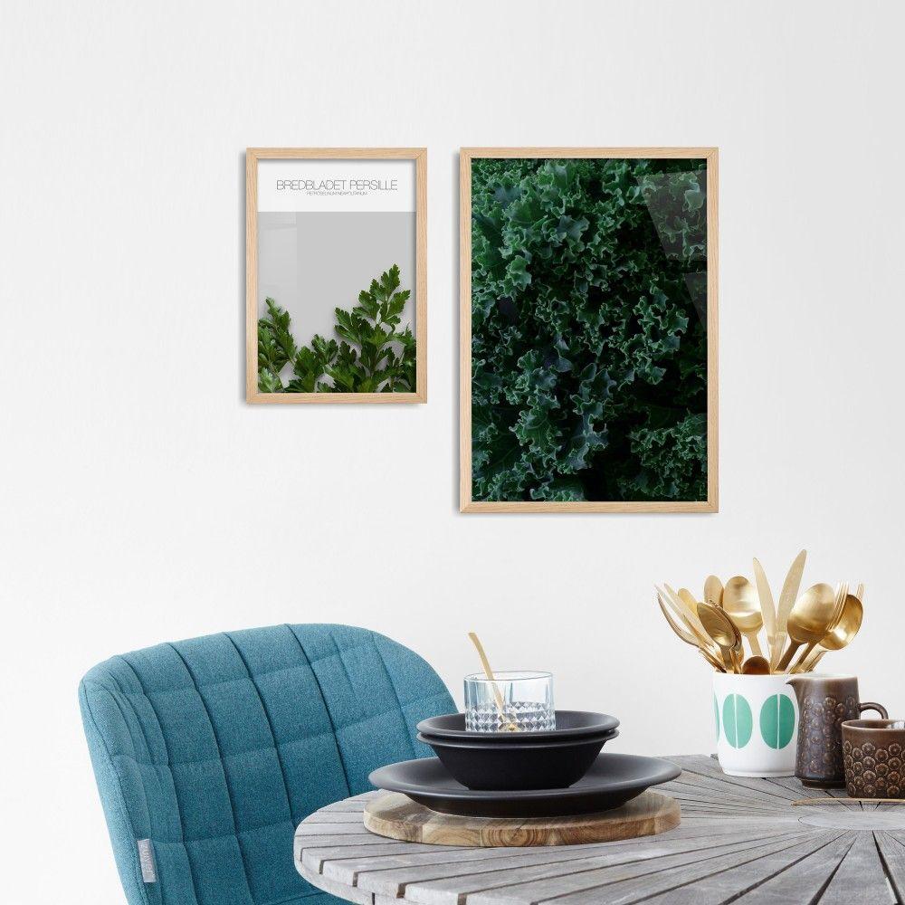 Grønkål - Køkken plakat i smukke grønne nuancer - Se den her ...