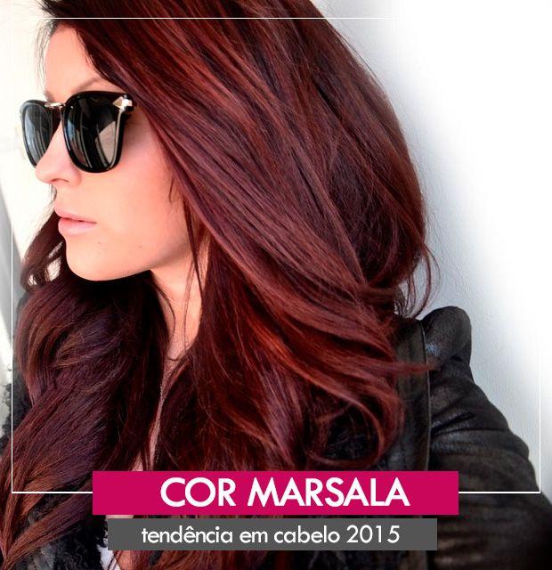 Excepcional Cabelos Marsala estão bombando! | Cabelos- Hair | Pinterest  EG61