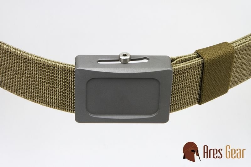 Aegis Belt. Good belt but the buckle is so serious it cuts holes in my shirt if I scoot my chair into my desk too far, and I'm not a round dude.