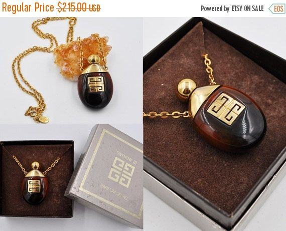 On Sale Vintage Givenchy Perfume Pendant By Hautevintagejewels Givenchy Jewelry Vintage Jewelry Diffuser Necklace