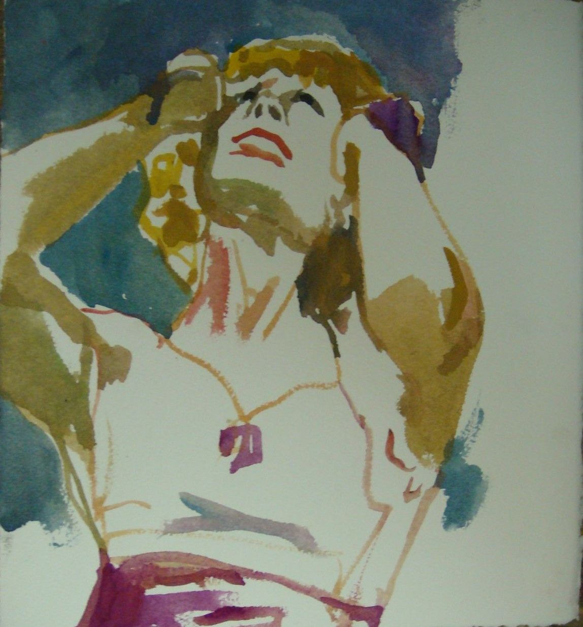 Watercolor artists names - Artist Name Sklaroff Collection Name Watercolors Art Name Woman Questioning