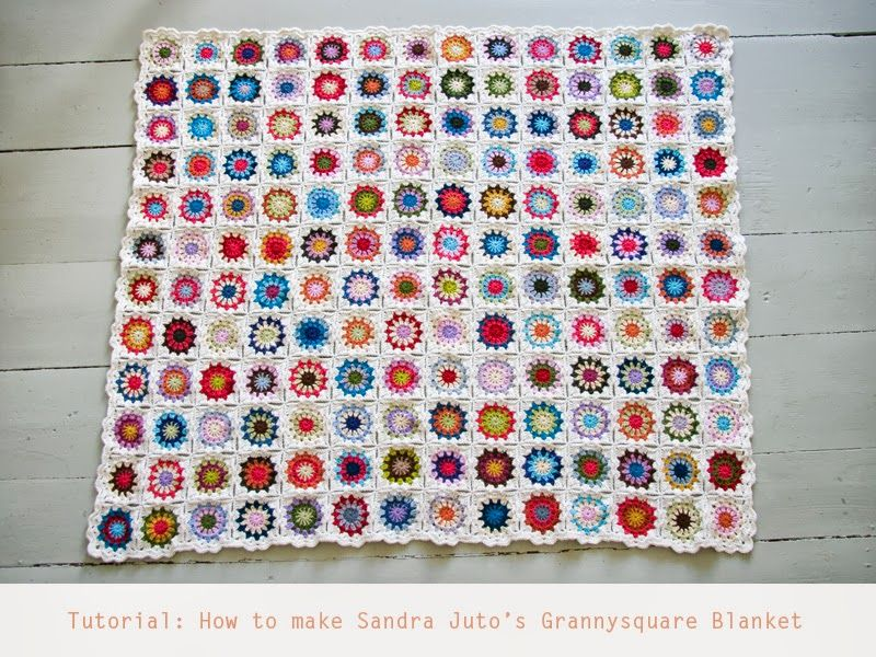 Tutorial: How to make Grannysquare Blanket, photo guide, stunning blanket: thanks so for sharing with us xox