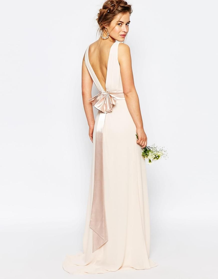 Tfnc Pee Wedding Sa Bow Back Maxi Dress At Asos