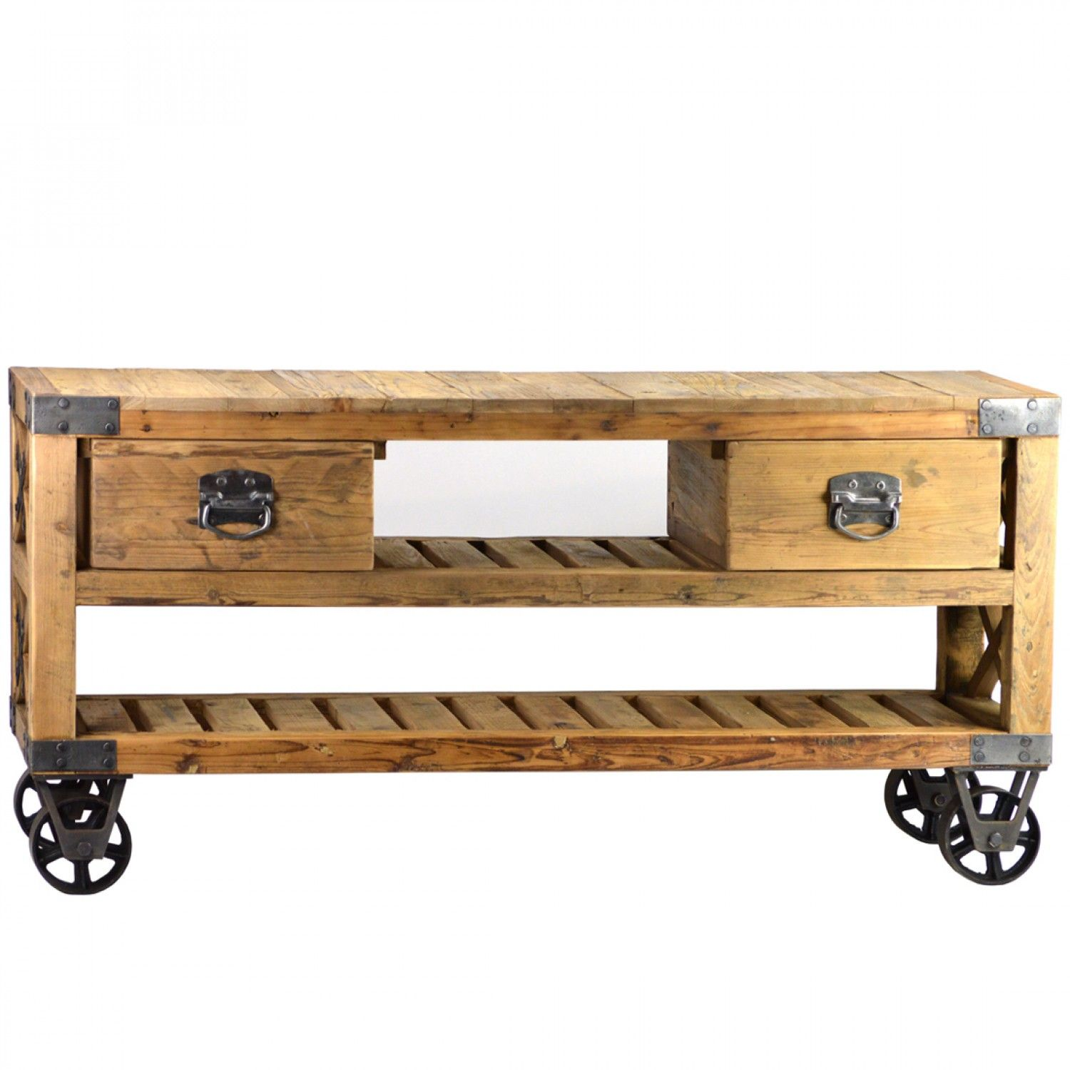 French Rustic Industrial Style Plasma Tv Stand 1 390 00
