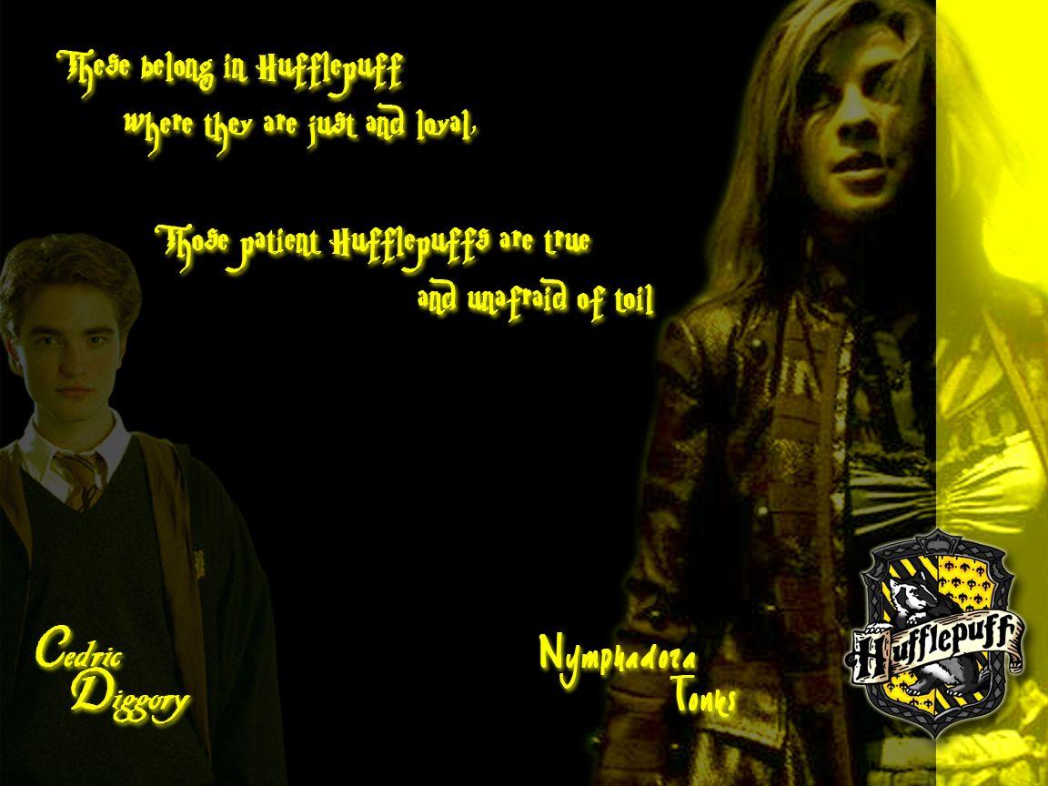 Hufflepuff - Cedric Diggory and Nymphadora Tonks