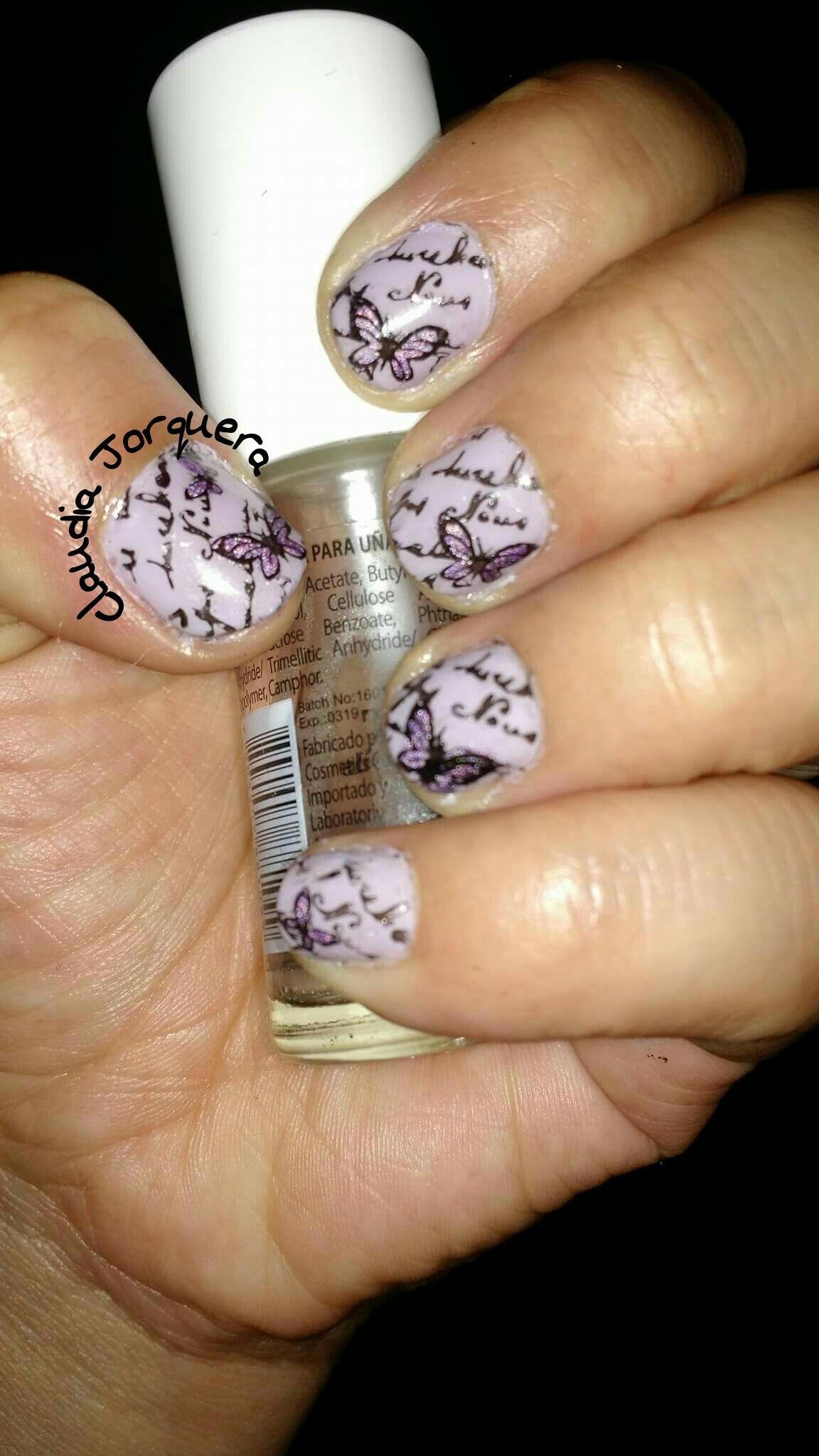 Diseño de claudia jorquera! Hermoso con letras del grupo de facebook nail art lovers. Nail art letters uñas letras