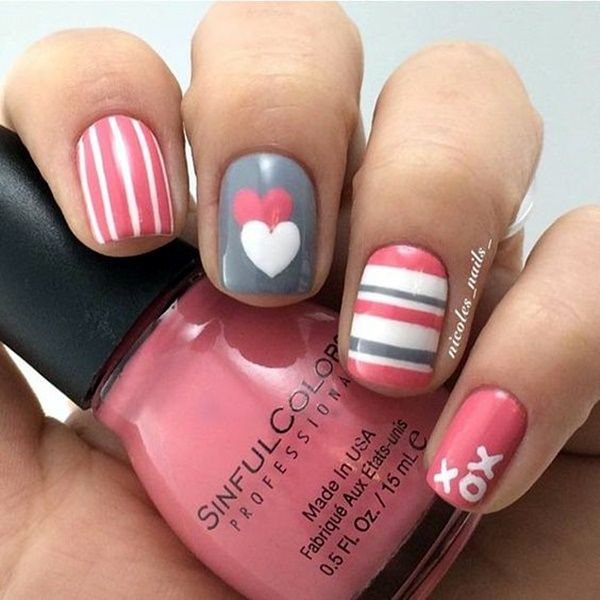 41 Romantic Valentines Week Nails Designs 2017 | Nail manicure ...