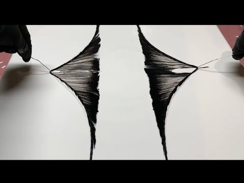 Fluid Painting STRING PULL!! Funky Black and White Cheap Easy Beginners Technique!! Wigglz Art
