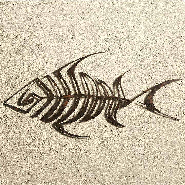 Bone Fish Metal Wall Art Metal Fish Wall Art Fish Wall Art Metal Bird Wall Art