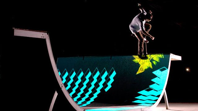 The making of a ground breaking new skateboard ramp installation by ENESS. Created for the Premiere of Tron Legacy in Melbourne, Australia.  Our custom built software allows us to 3d map the  ramp and track the skateboards in real-time. Each rider is equipped with an iPod Touch to measure air time and trigger effects, IR Lights and camera is used to track the skater's position.  Enjoy the making.