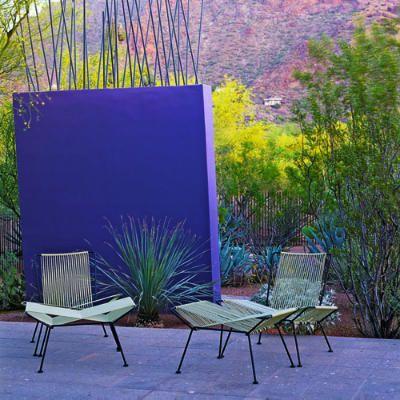 Modern Desert Landscaping Outdoor Accent Wall Patio