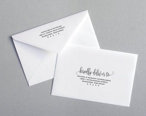 Envelope Template Printable Envelope Wedding By Blisspaperboutique