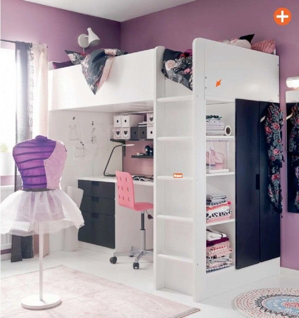 purple girls room ikea | kid and teen room designs | pinterest