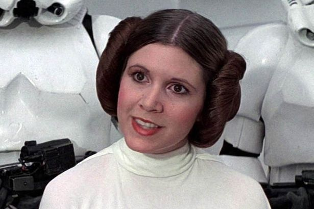 wars leia fisher Carrie princess star