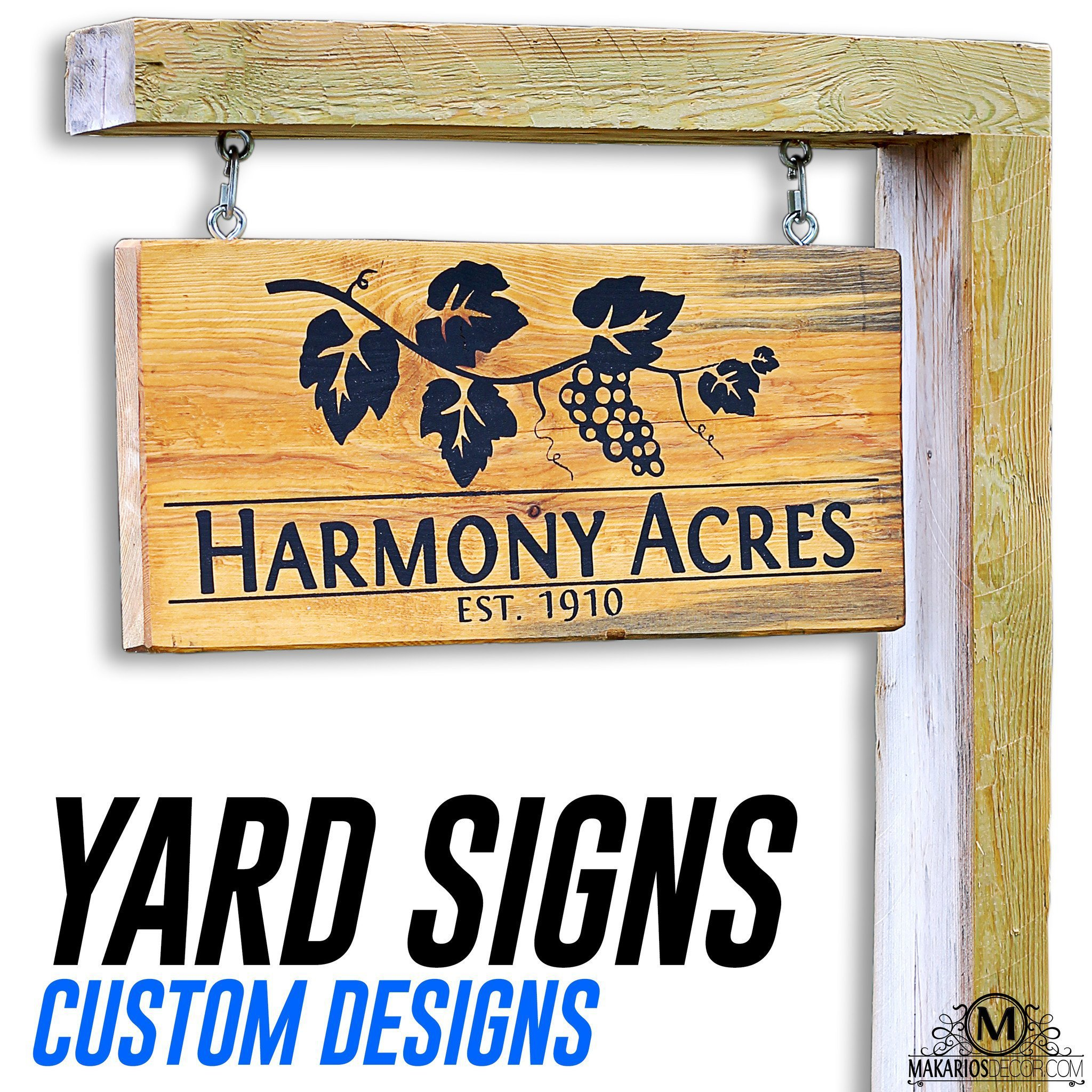 Custom Yard Sign in 2020 Driveway sign, Custom yard