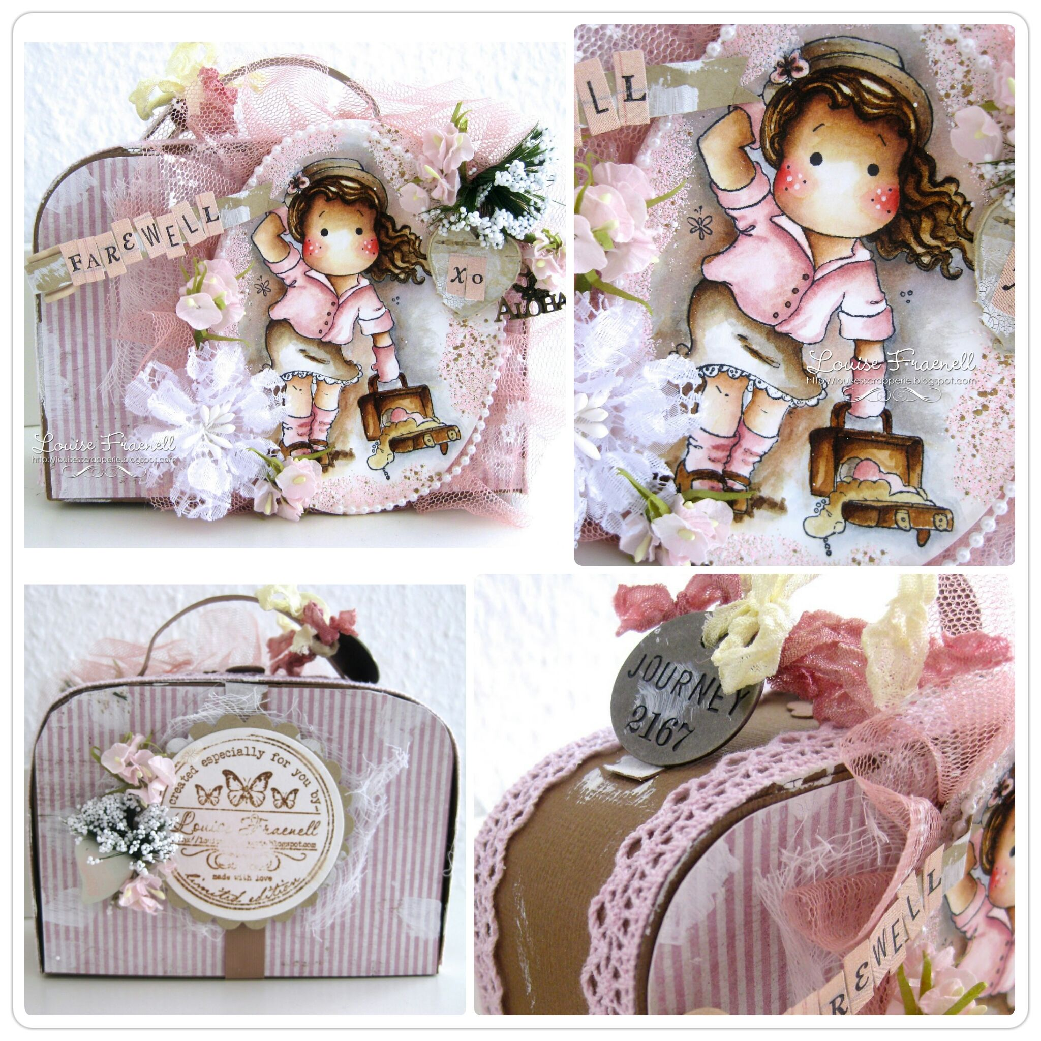 Suitcase Project By Llc Dt Member Louise Fraenell, Using Papers