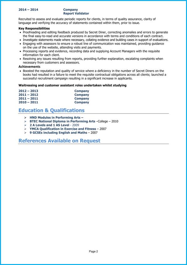 School leaver CV example page 1 School leavers, Resume