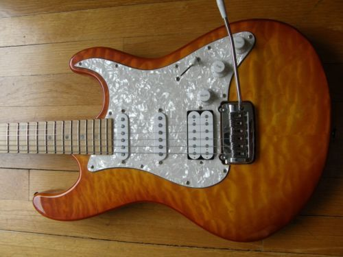 STRAT by Dean Avalanche MQ Quilt Maple Neck Korea EXCELLENT and ...