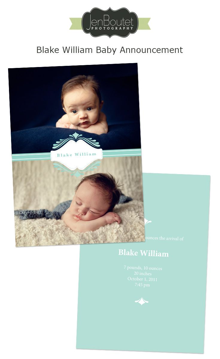Christmas card baby announcement Offered through Jen Boutet
