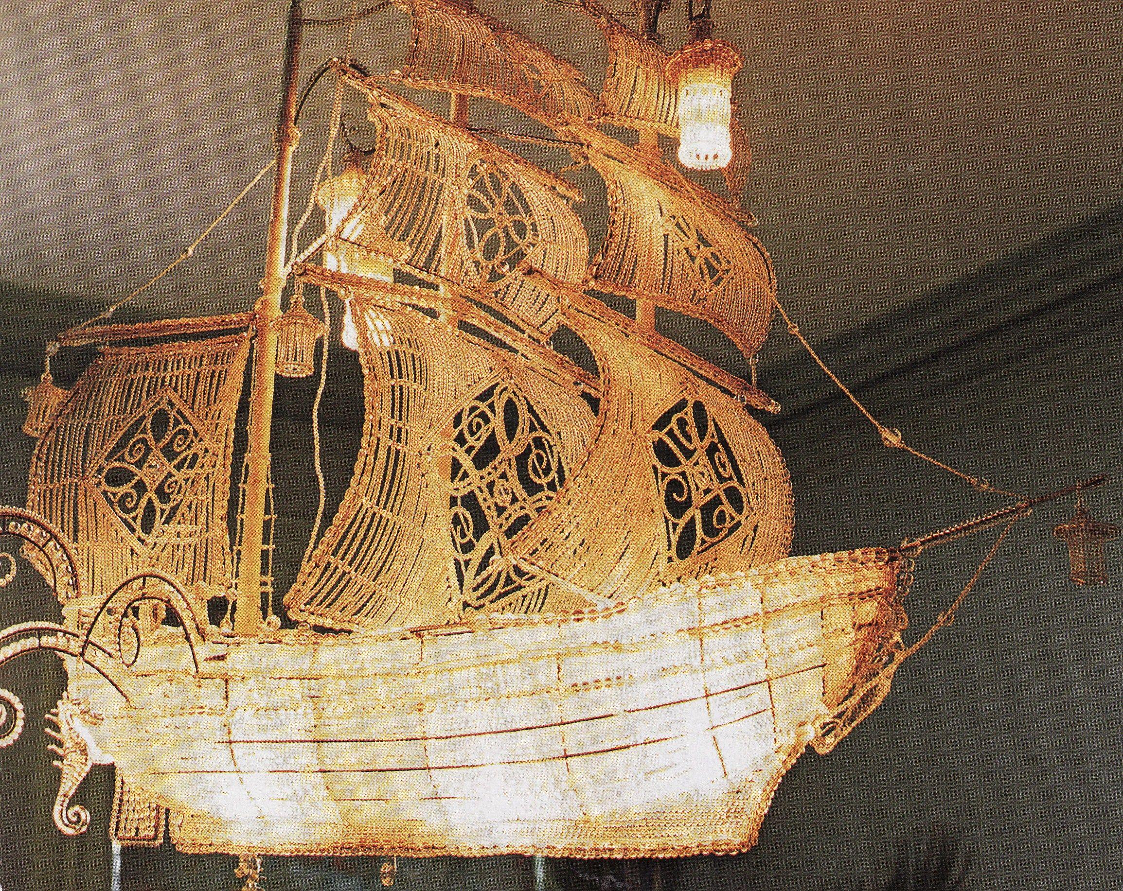 sailing ship chandelier love it Lighting