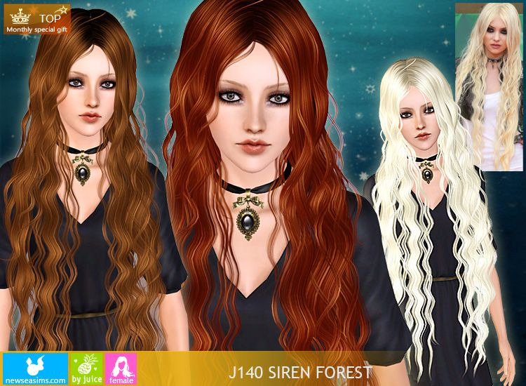 Long Hair No Really Actual Long Hair Not Just Past The Shoulders Sims Curly Hair Styles Sims 3