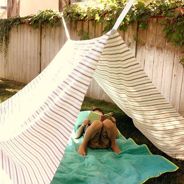 Tienda de campaña improvisada | terrazas | Pinterest | Tienda de ...