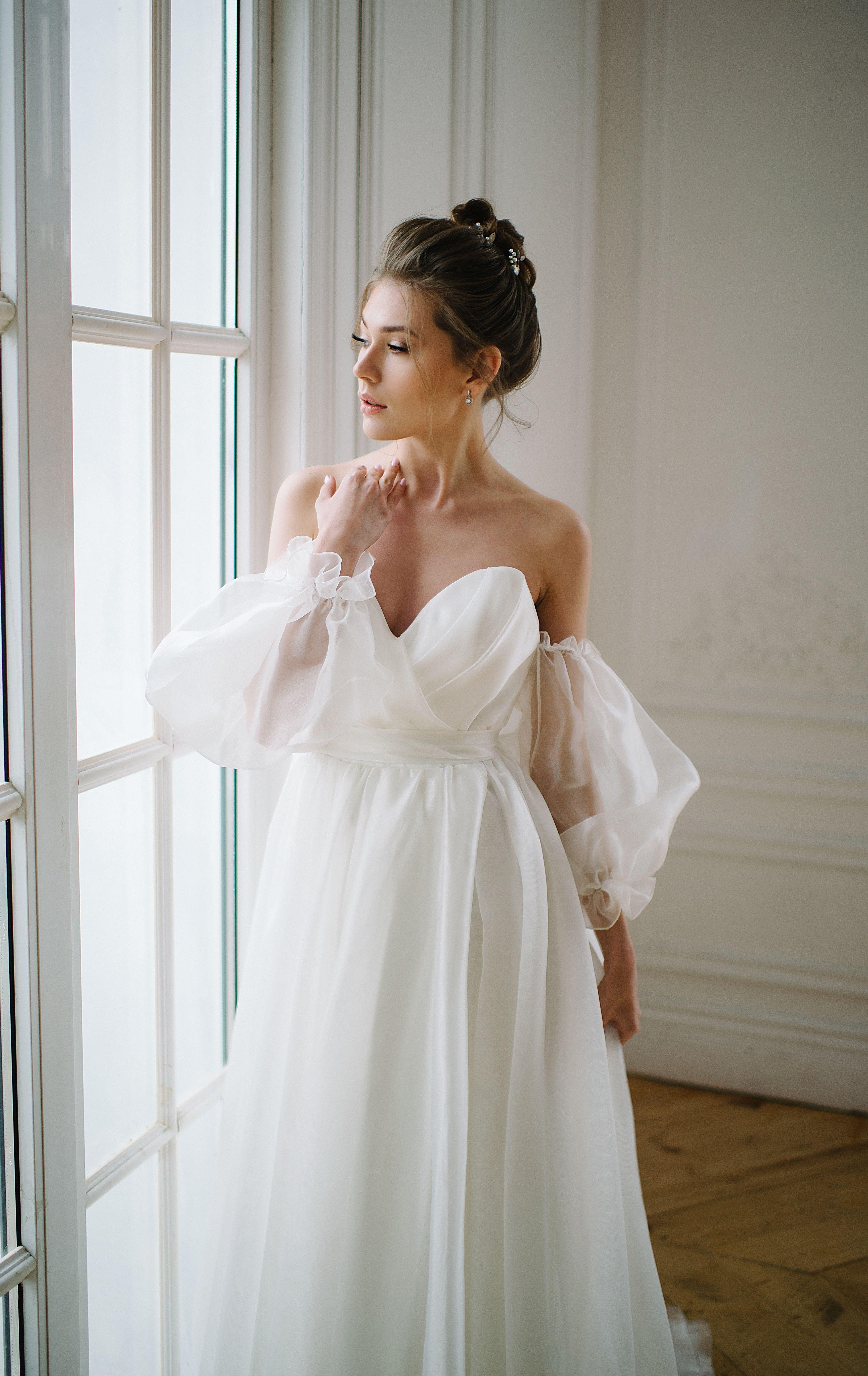 Summer Bohemian Wedding Dress By Dream Dress Gorgeous Airy Corset Bridal Dress For Exquisi Necklines For Dresses Trendy Wedding Dresses Wedding Dresses Corset [ 5473 x 3453 Pixel ]